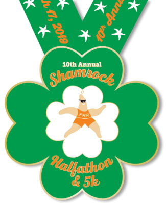 Shamrock Medal with Ribbon