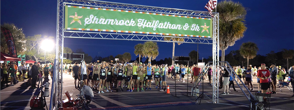 Florida Shamrock Halfathon & 5K Start